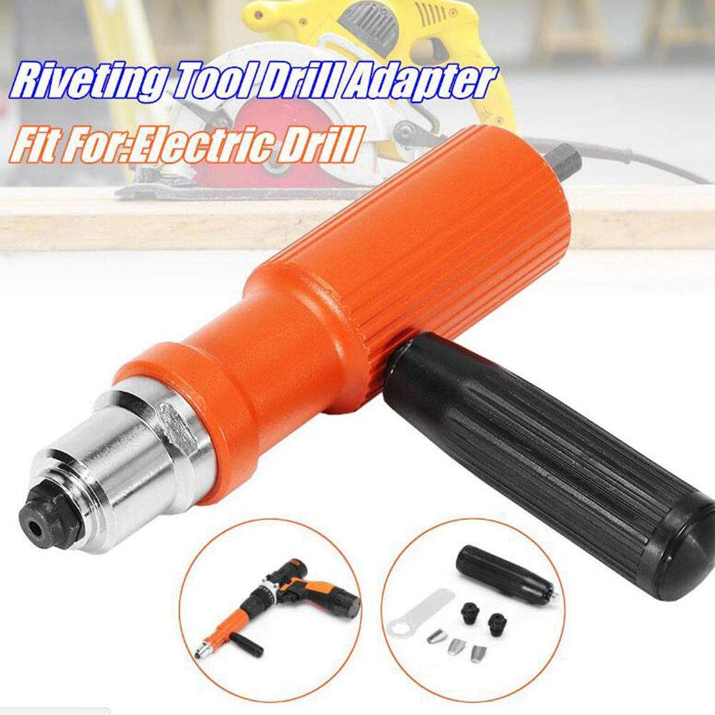 Electric Insert Rivet Nut Gun Pop Riveting Drill Tool Cordless Adaptor Nozzle Riveted Pneumatic Blind Rivet Adapter