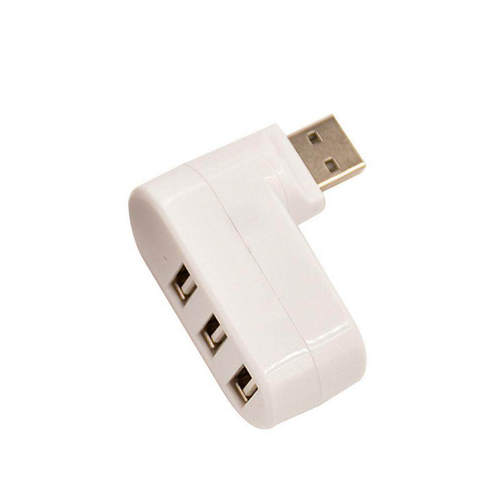 niceEshop 3-Port Mini USB 2.0 Rotatable Hub [90°/180° Degree Rotatable] - intl