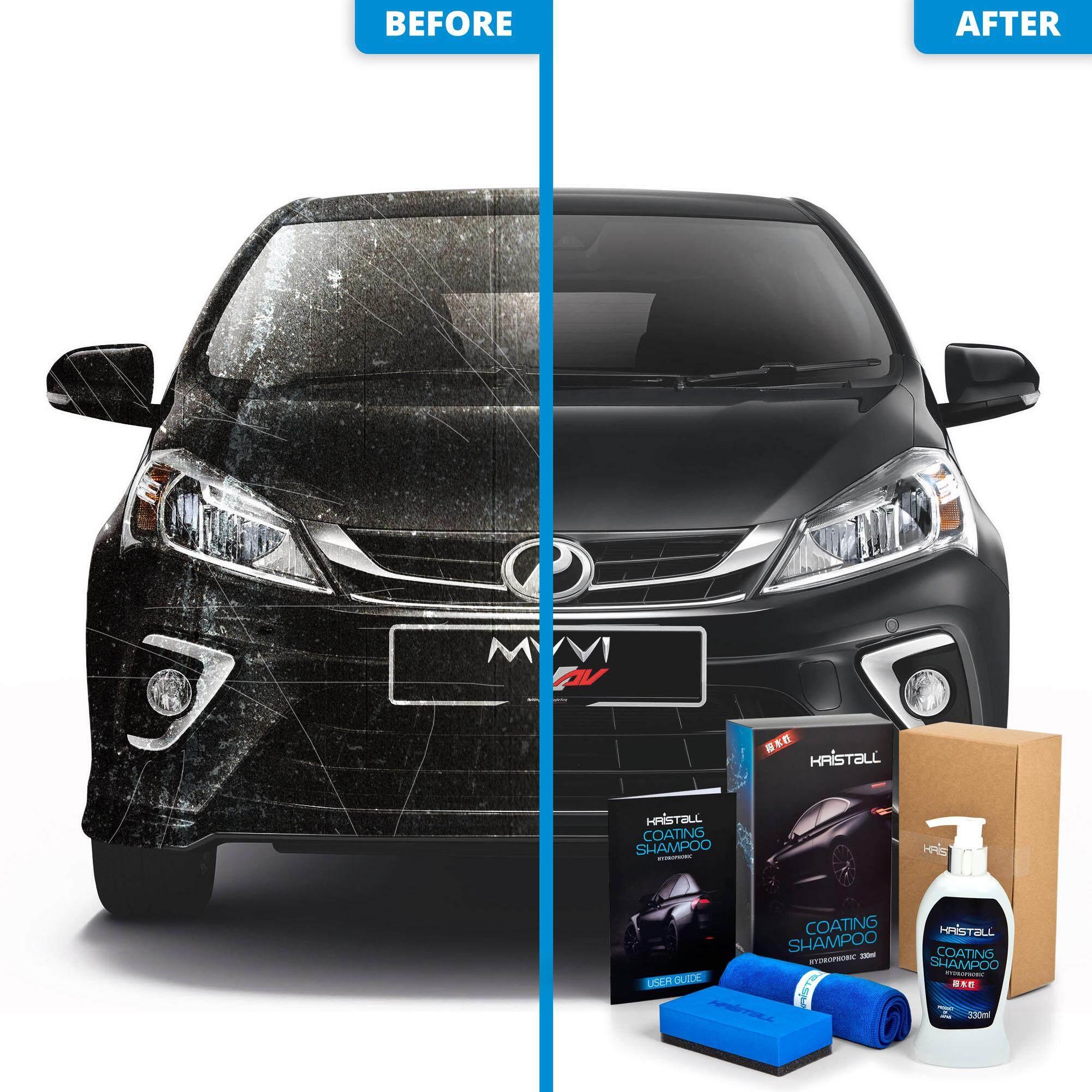Perodua Myvi Coating Shampoo - Kristall® Car Shampoo WITH Nano Coating (Car Paint Protection, Super Hydrophobic, Deep Gloss, 6.5 pH Balanced Neutral Shampoo)