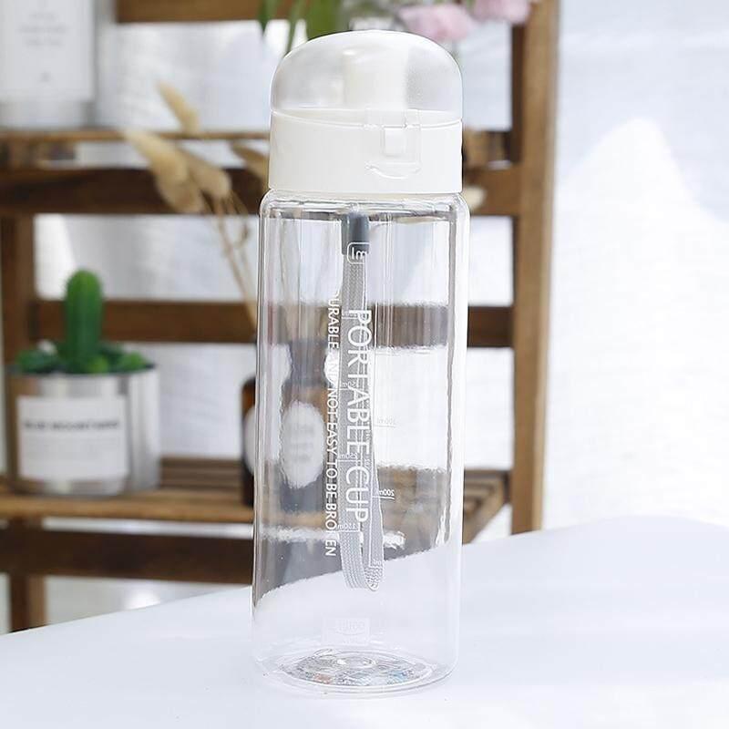 650 Ml Fashion Sederhana Segar Gelas Plastik Berwarna-warni Siswa Portabel Berguna Cangkir Air