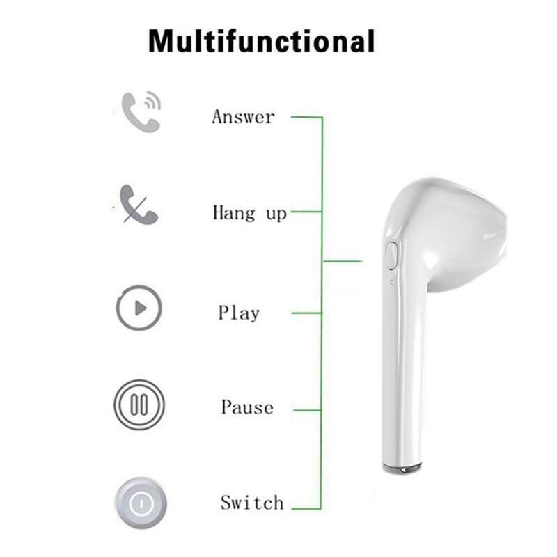 Tws I7 Bluetooth Mini V4.1 Headphone Earphone Stereo Olahraga Tunas Nirkabel Satu Earbud Headset Bebas Tangan untuk iPhone X Smartphone - 4