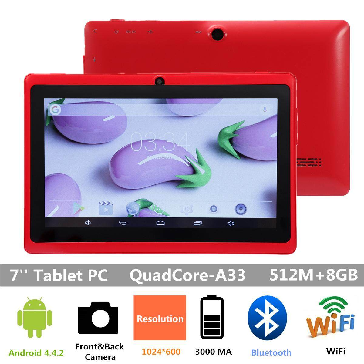 "7 ""Google Android 4.4 Duad Inti PC Tablet 1 GB + 8 GB Dual Kamera"