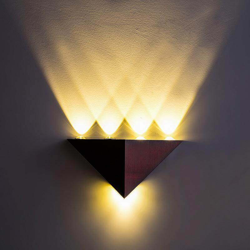 wall lamp 5W Led triangle colorful lantern corridor light sconces wall lighting decoration