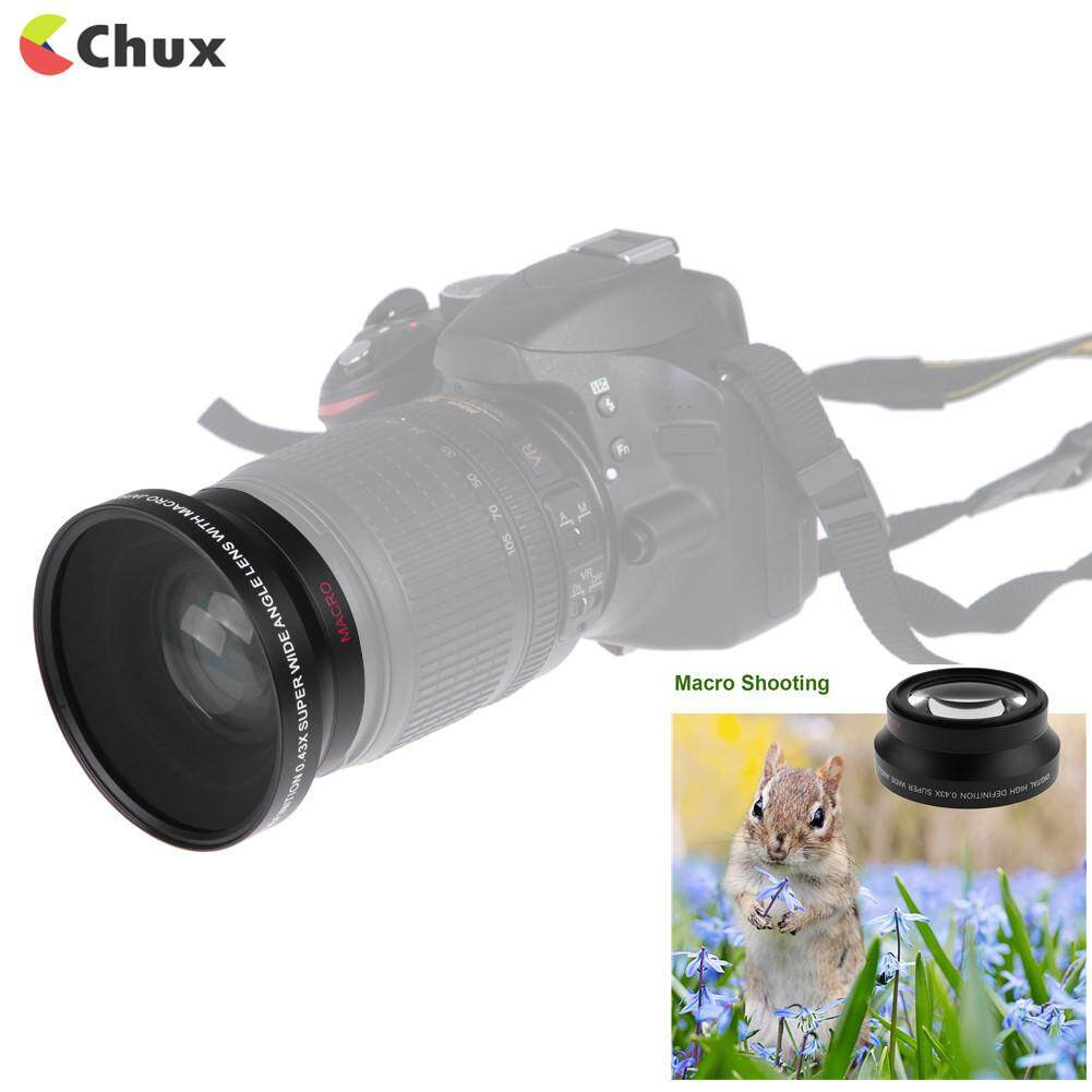 Chux 67mm 0.43X High Definition Wide Angle Macro Lens for Nikon Sony Canon