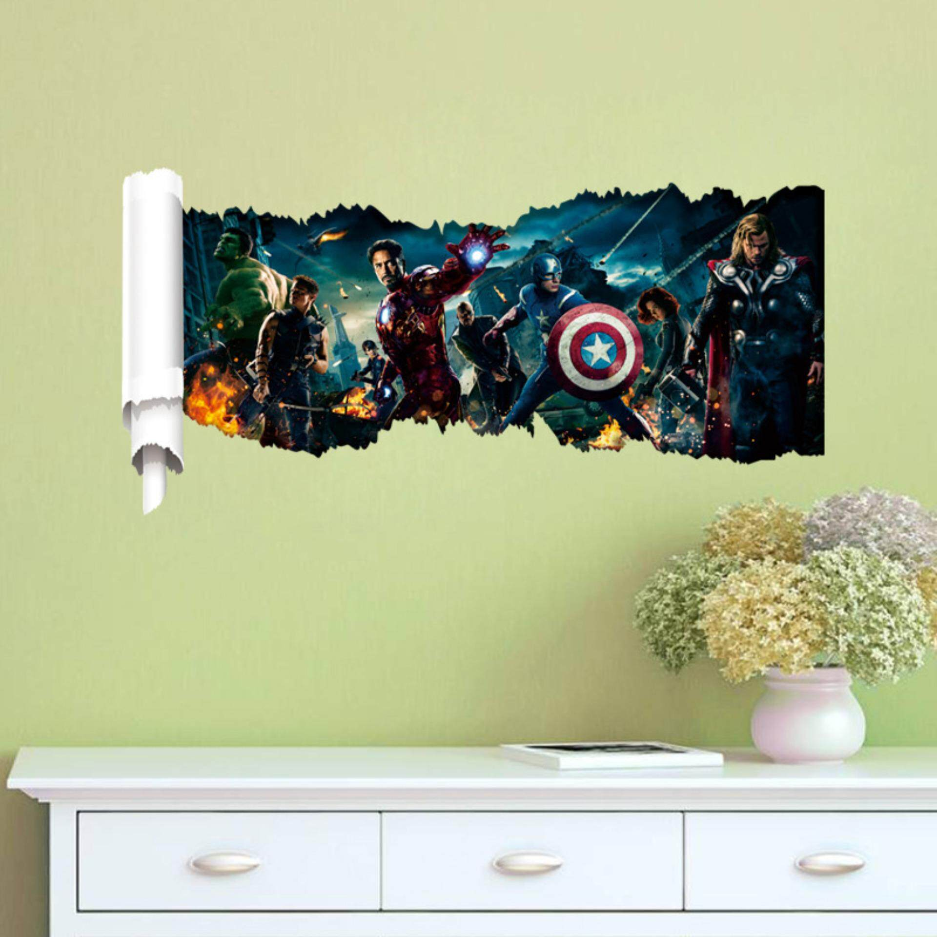 Avengers Group PVC Wall Stickers Removable Decal Mural Art Picture Wallpaper Room Home Decor