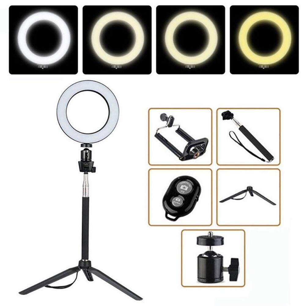 14.5/16/20cm Dimmable LED Ring Light Selfie Light Lamp Photo Camera Live Fill-in Light