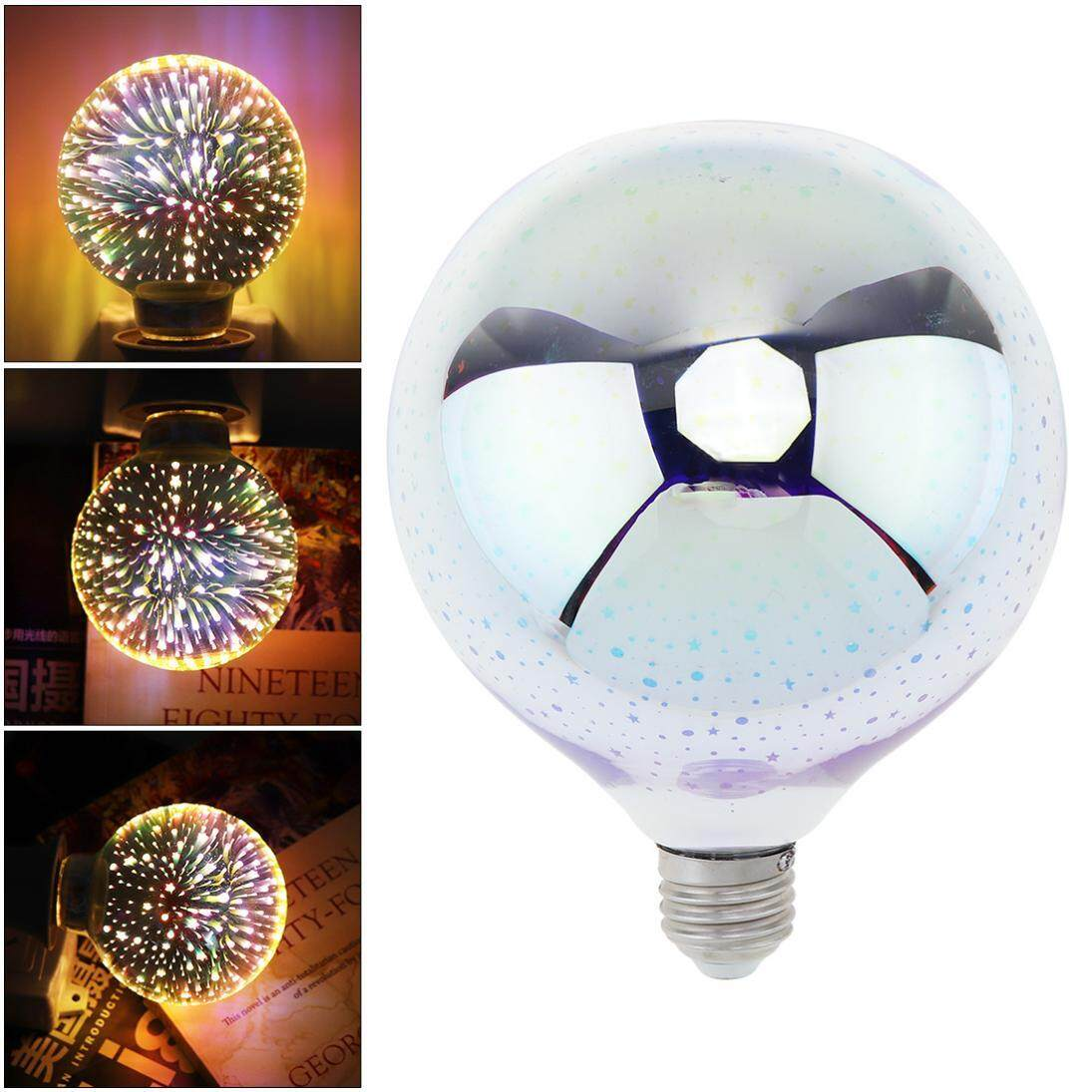 G125 E27 AC 85-265V 3W Dazzle Color 360 Degree Luminescence Angle Led Light Bulb 3D Decoration Fireworks Bulb - intl