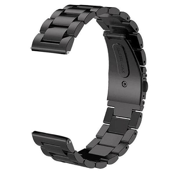 1 Pcs 22 Mm Lebar Tali Logam Gelang Jam Jam Tangan Pintar untuk Samsung Gear S3 Watch (Hitam)