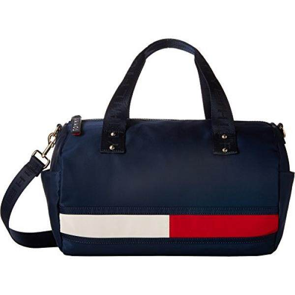 3a185fffaca Tommy Hilfiger Womens Nori Flag Convertible Nylon Duffel Tommy Navy One Size