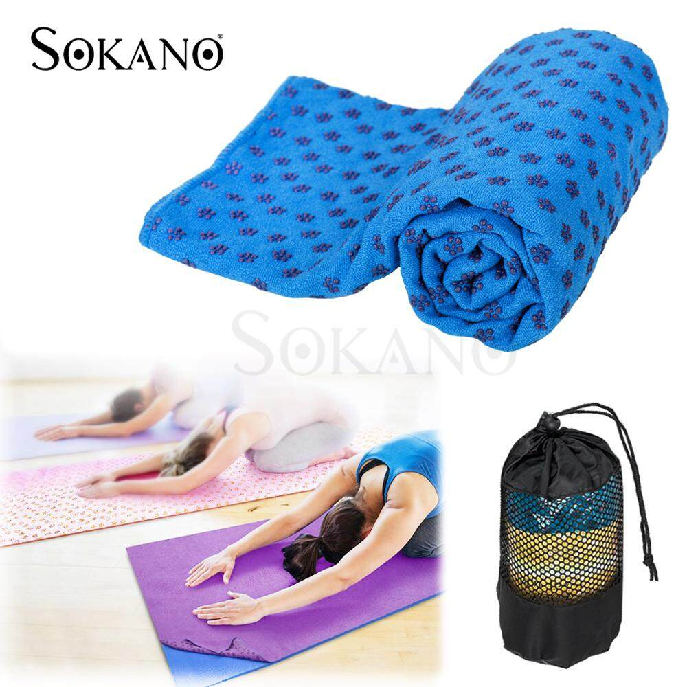 (RAYA 2019) SOKANO Non-slip Yoga Mat Towel Sweat Absorb (180cm x 61cm)