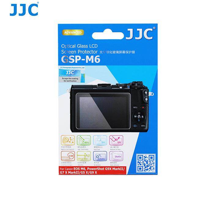 JJC GSP-M6 Tempered Optical Glass Camera Screen Protector 9H Hardness For Canon EOS M6 / PowerShot G7X Mark II / G9X Mark II / G5X