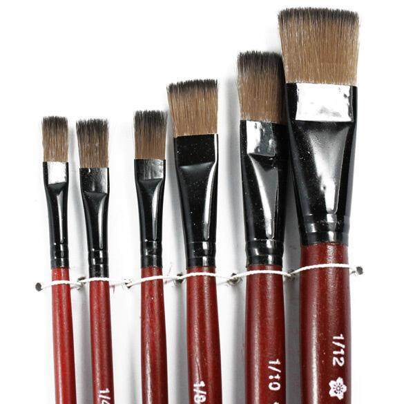 Mua Artist Brushes Suppliers 6 Brown Nylon Paint Brushes - intl