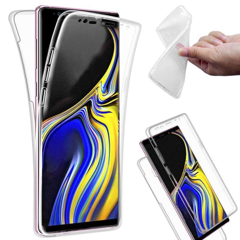 Giá For Samsung Galaxy Note 9 Case, 360 Degree Full Cover Soft Clear Case Shockproof Transparent Silicone Phone Casing