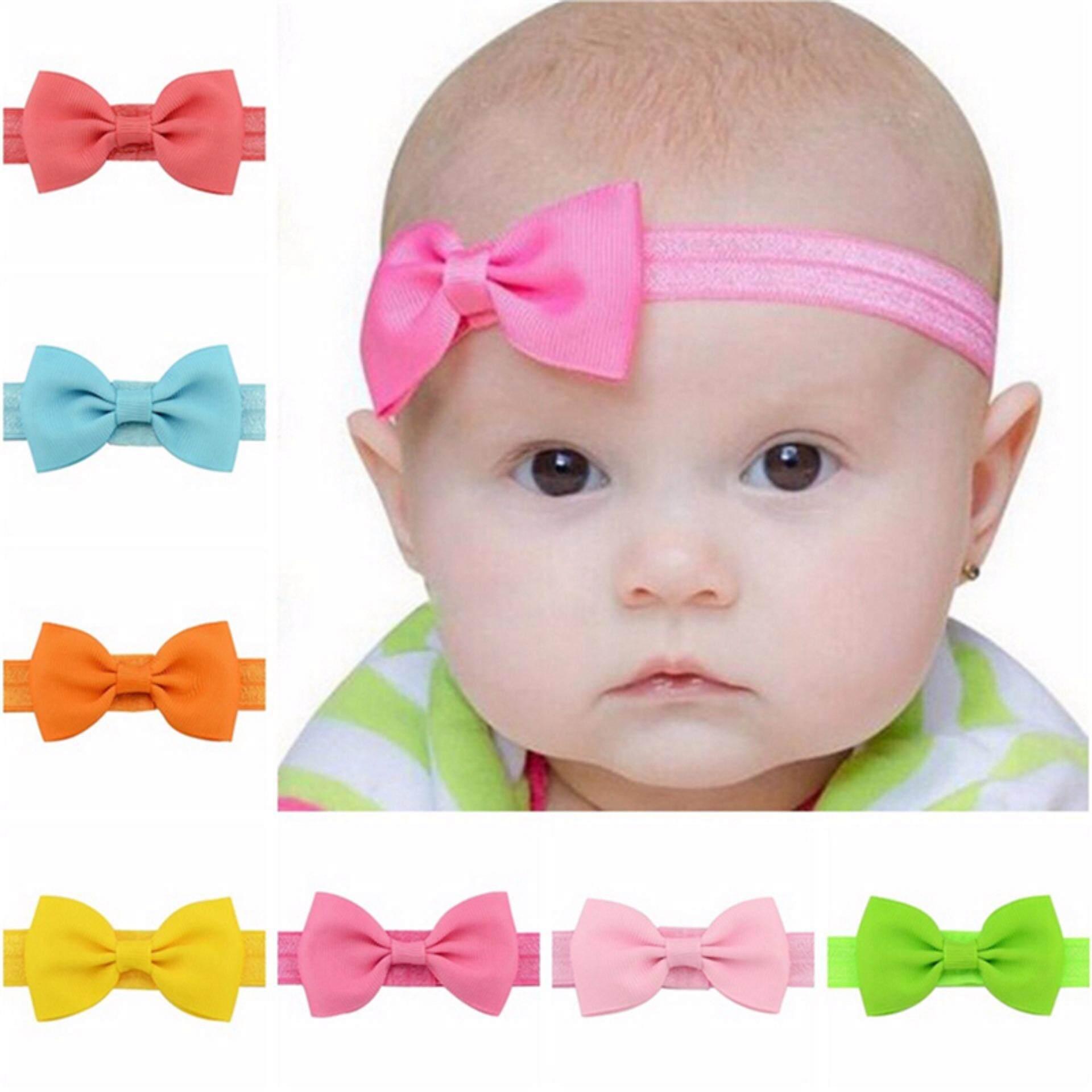 be1cdd789593e 20pcs Soft Baby Girls Bow Headband Hairband Elastic Band Hair Accessories  Bow
