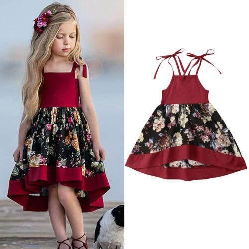 Toddler Baby Girls Clothes Dresses Tutu Strap Dress Party Princess Dress  Sleeveless Floral Sundress Girl 63303845d