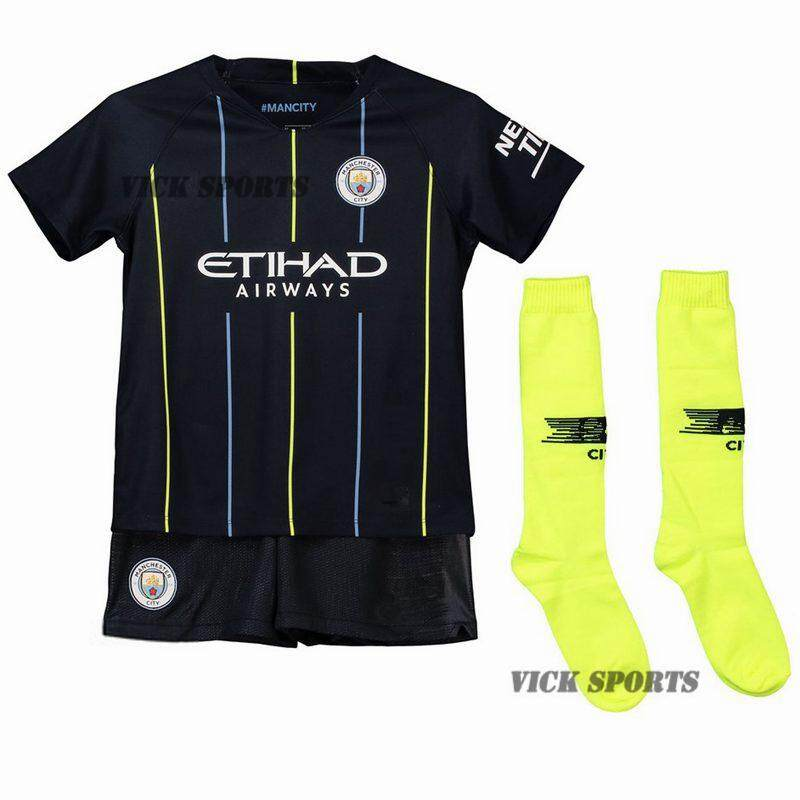 6f8d0ae3 (FREE SOCKS)2019 New Season Top Quality Man City Away Football Jersey Kit  soccer