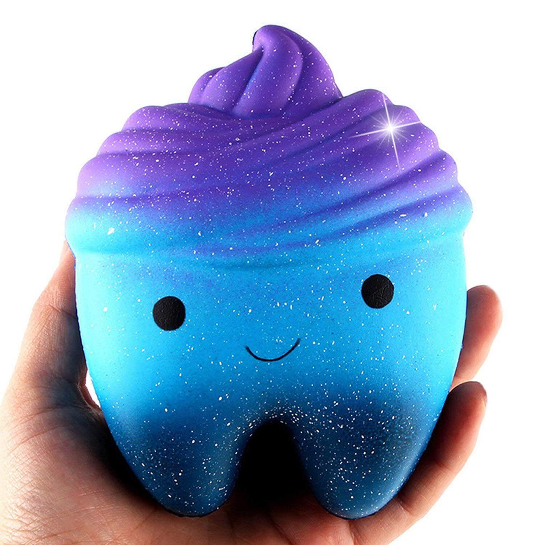 Cute Kawaii Lembut Squishies Bintang Mainan Gigi Lambat Rising untuk Anak Dewasa Lepas Stress Kecemasan Alat
