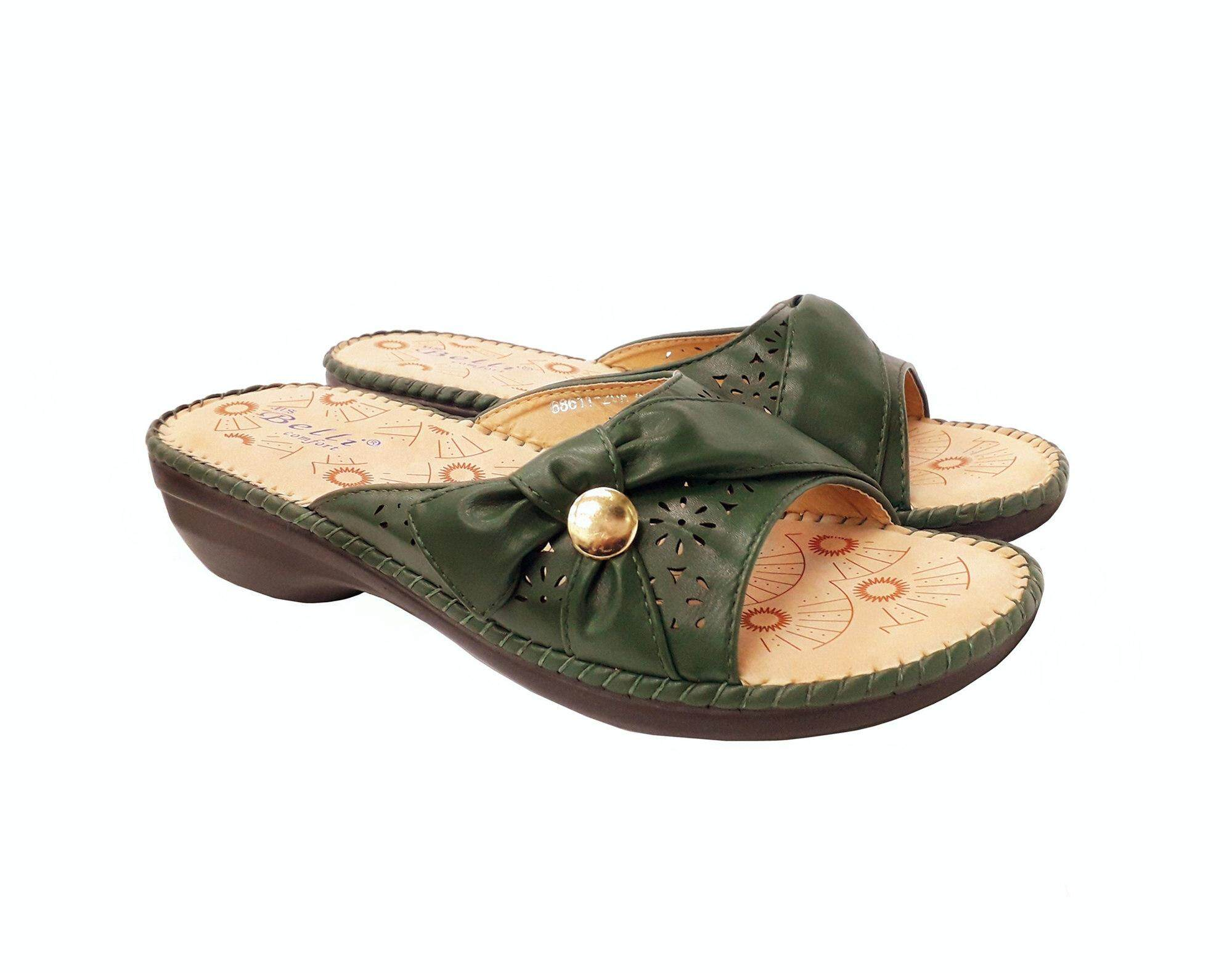BELLI COMFORT SHOES HS57032 RED & GREEN