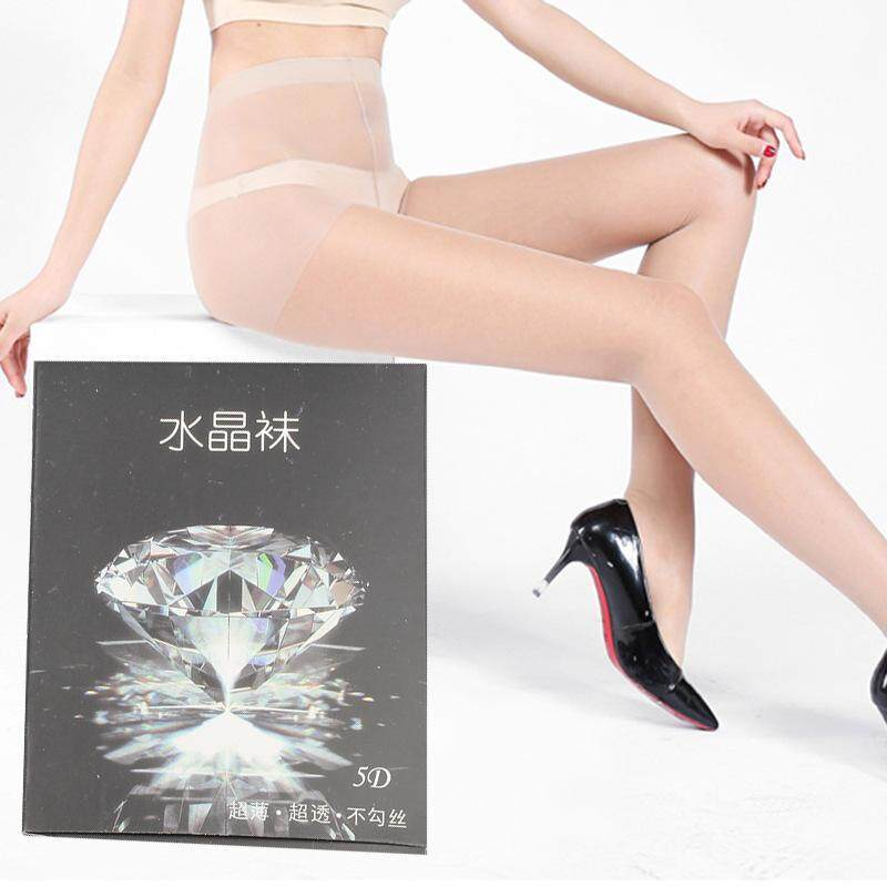 ab3c9b420fb 6pcs 5d crystal socks thin anti - snag silk stockings spring and summer  seamless invisible crotch