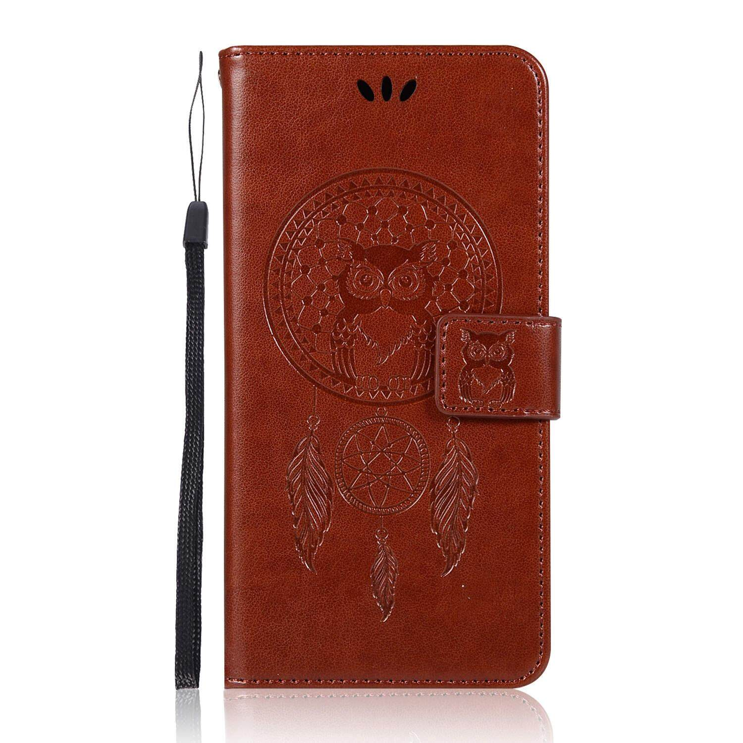 Wallet Case for Samsung Galaxy J7 Pro 2017 / J7 2017 Emboss Leather Phone Case Owl