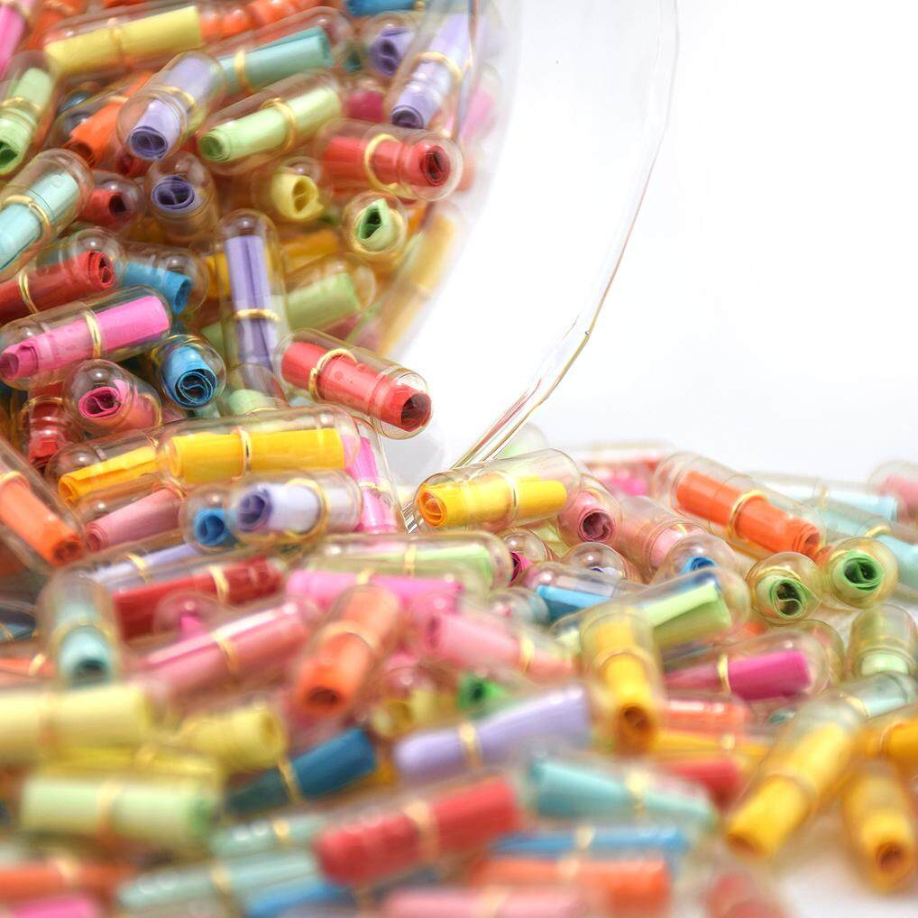 100pcs In A Bottle Message Capsule Letter Cute Love Pill By Askylzd.