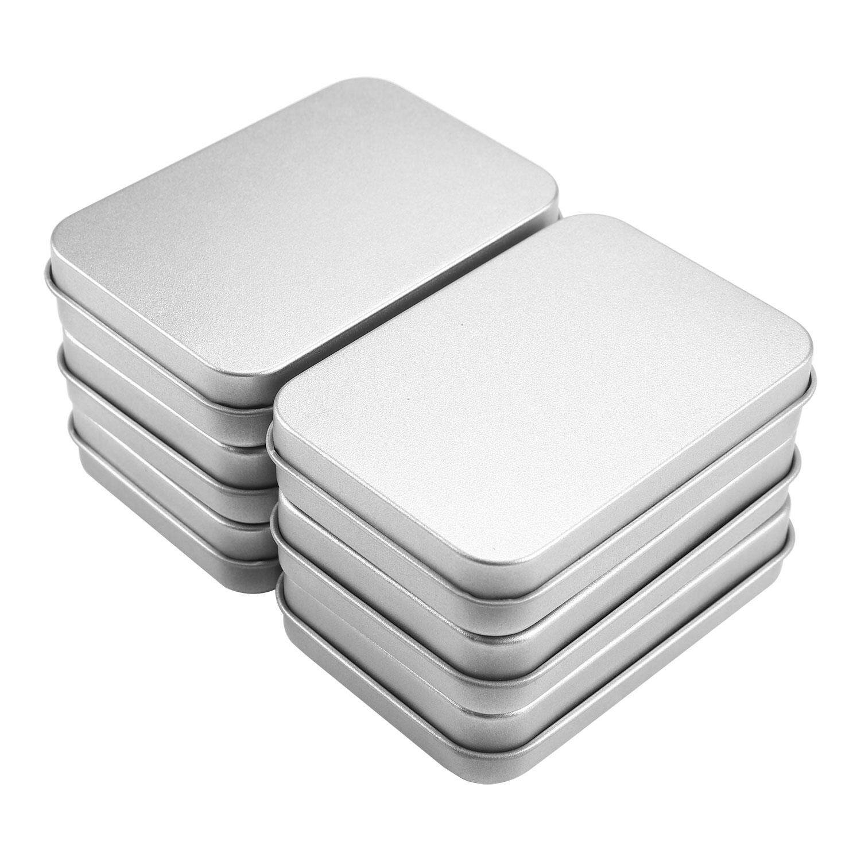 hogakeji 6pcs Mini Portable Box Small Storage Kit, Silver Metal Rectangular Box For Storage Organizer - intl