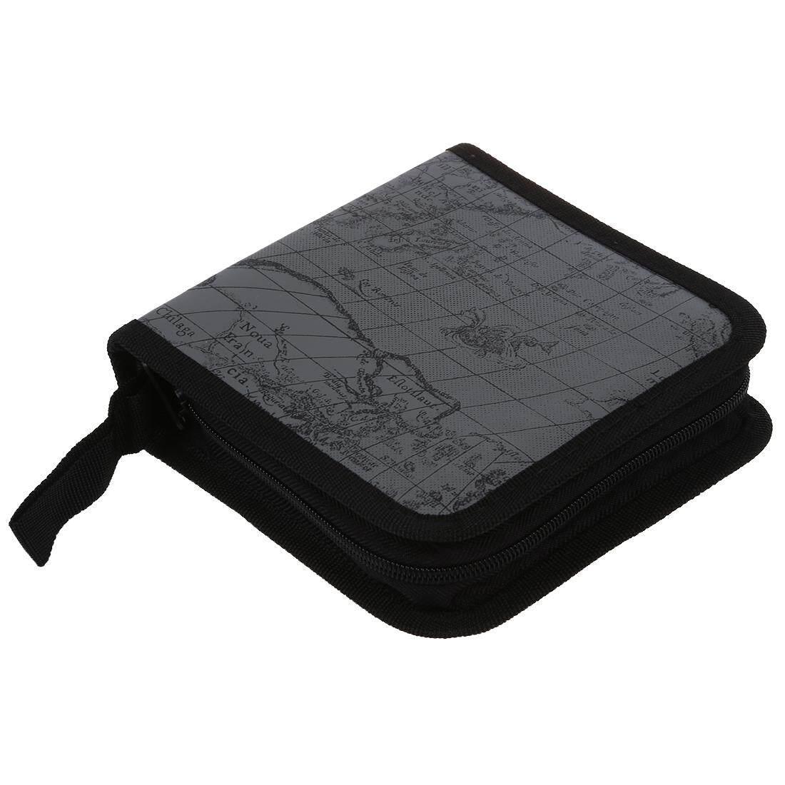 Buy Sell Cheapest Cd Wallet Best Quality Product Deals Plastik Wadah 40 Disc Fashion Map Dvd Storage Holder Sleeve Case Box Bag Album Zipper