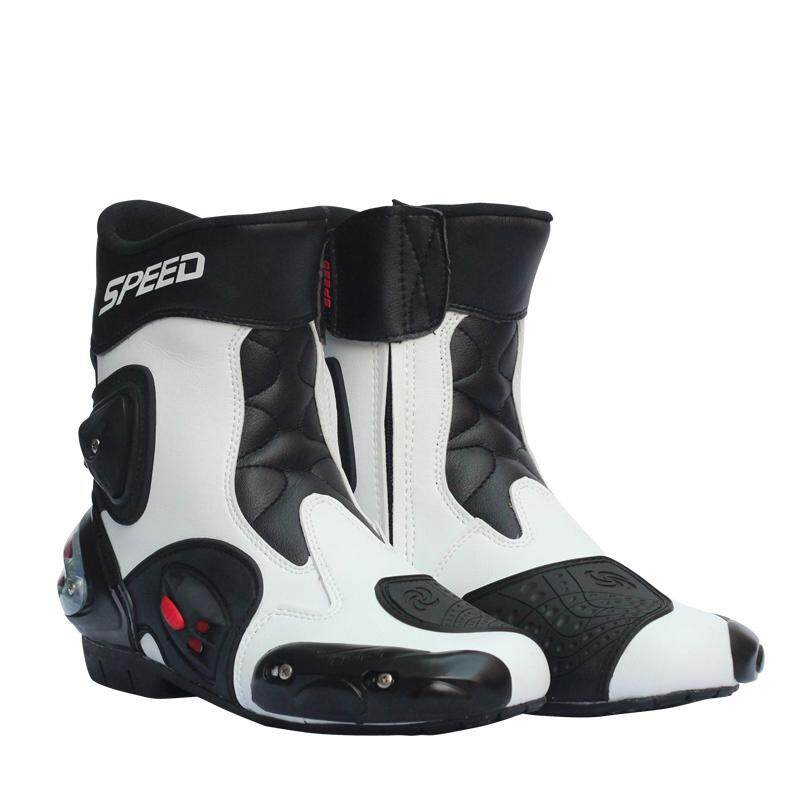5a106df79f HiQueen Men Motorcycle Racing Shoes Leather Motorcycle Boots Riding  Motorbike Motocross Off-Road Moto Boots