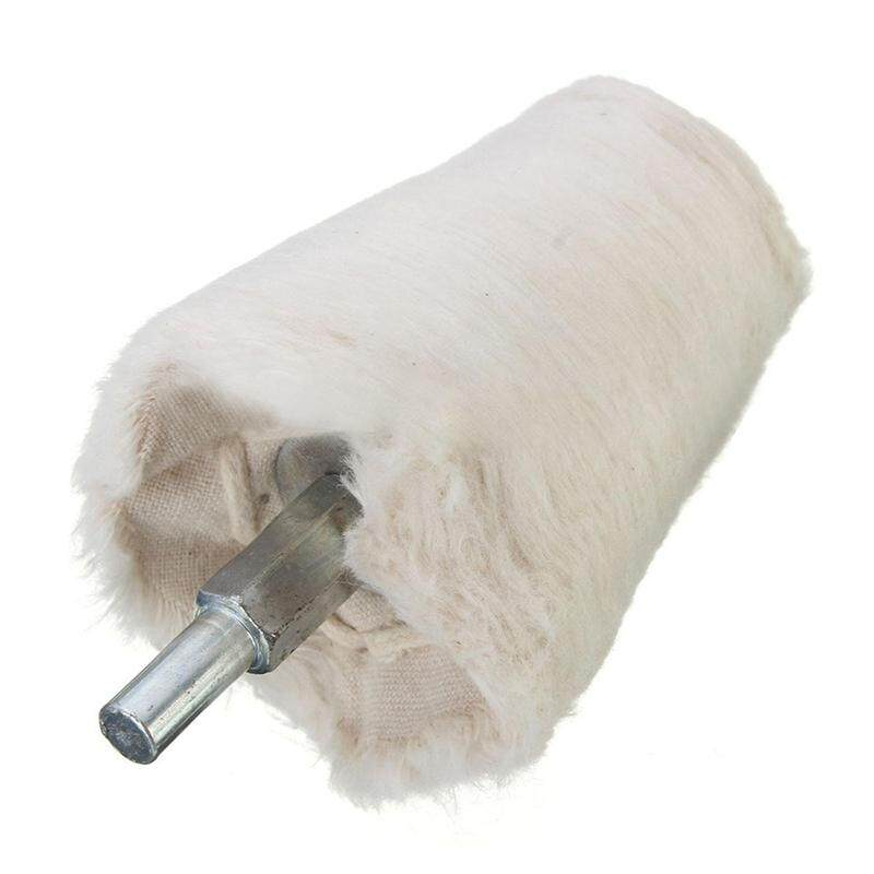 2 inch Cone Tapered Rotary Weave Cotton Polishing Buffing Wheel 1/4 inch Shank Brush - intl