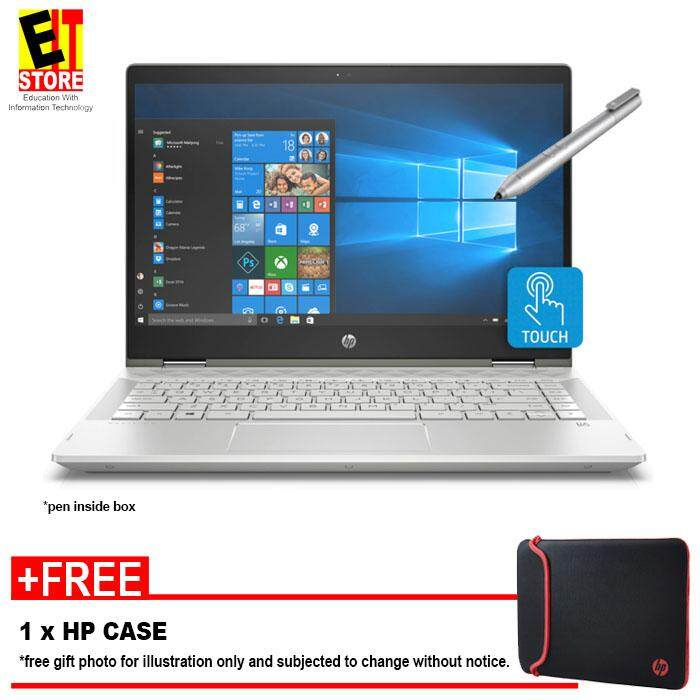 HP PAVILION X360 14-CD0036TX SILVER (I5-8250U/4GB/1TB+8GB Nand/14 TOUCH/W10/MX130 2GB/2YRS) + CASE AND PEN Malaysia