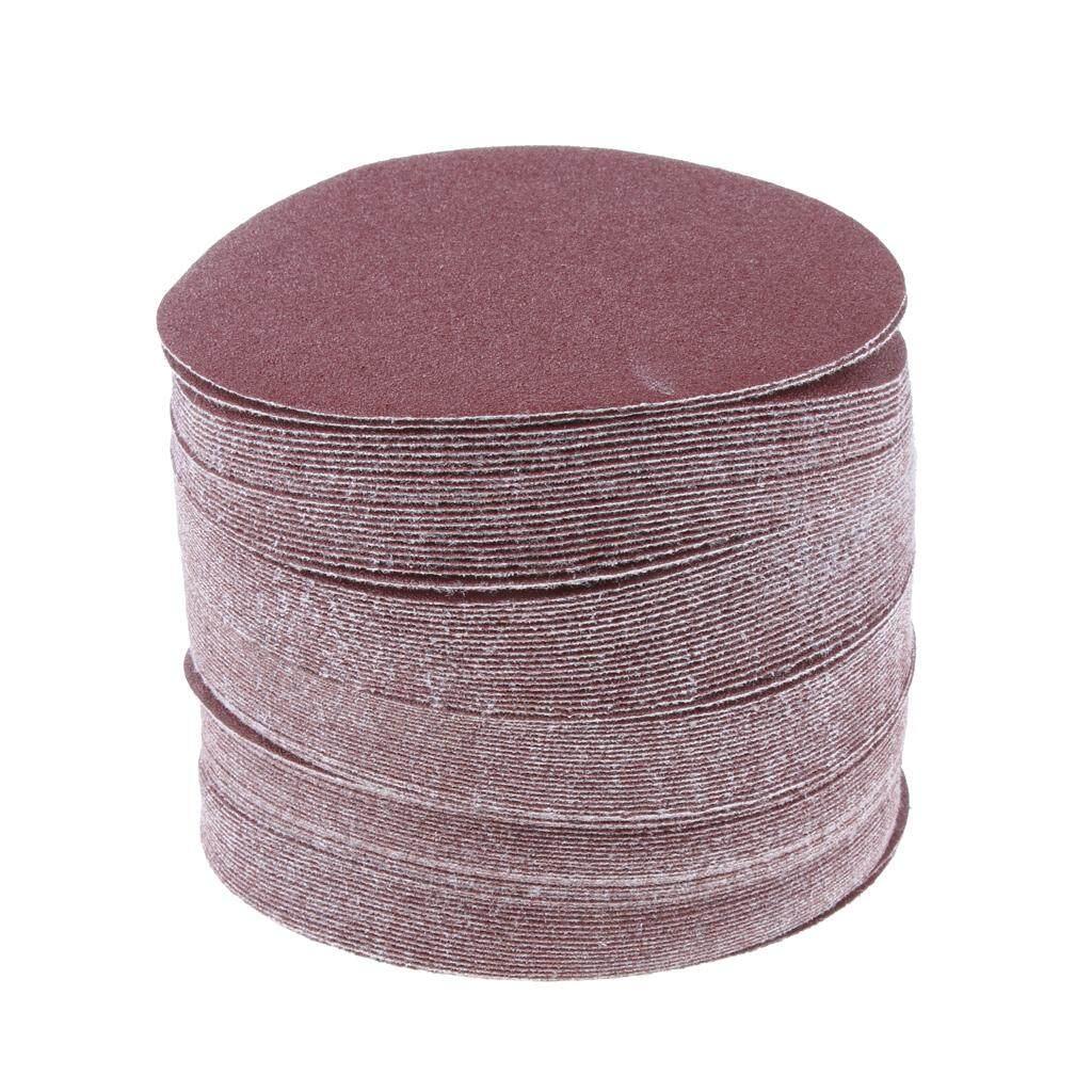 MagiDeal 100pcs 5 inch Sanding Discs Sandpaper Nonporous Round Polishing Pad 120#
