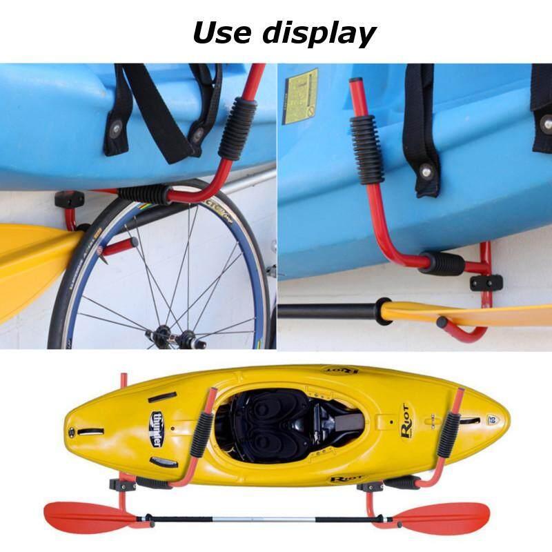 Hình ảnh 2ps Kayak Steel Storage Rack Carrier Paddle Surfboard Canoe Holder Wall Bracket