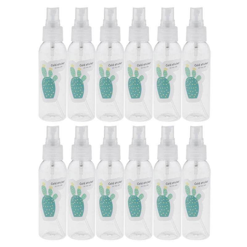 Buy MagiDeal 12 Pieces Refillable Empty Plastic Travel Bottles Containers Clear 60ml 3# Singapore