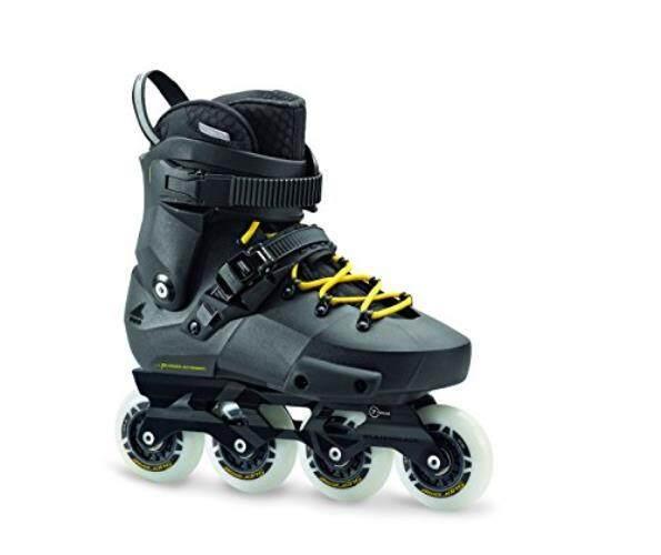 Sepatu Roda Twister Edge Pria Kebugaran Dewasa Sepatu Roda, Hitam dan Kuning, Kinerja Tinggi Sepatu Roda-Internasional