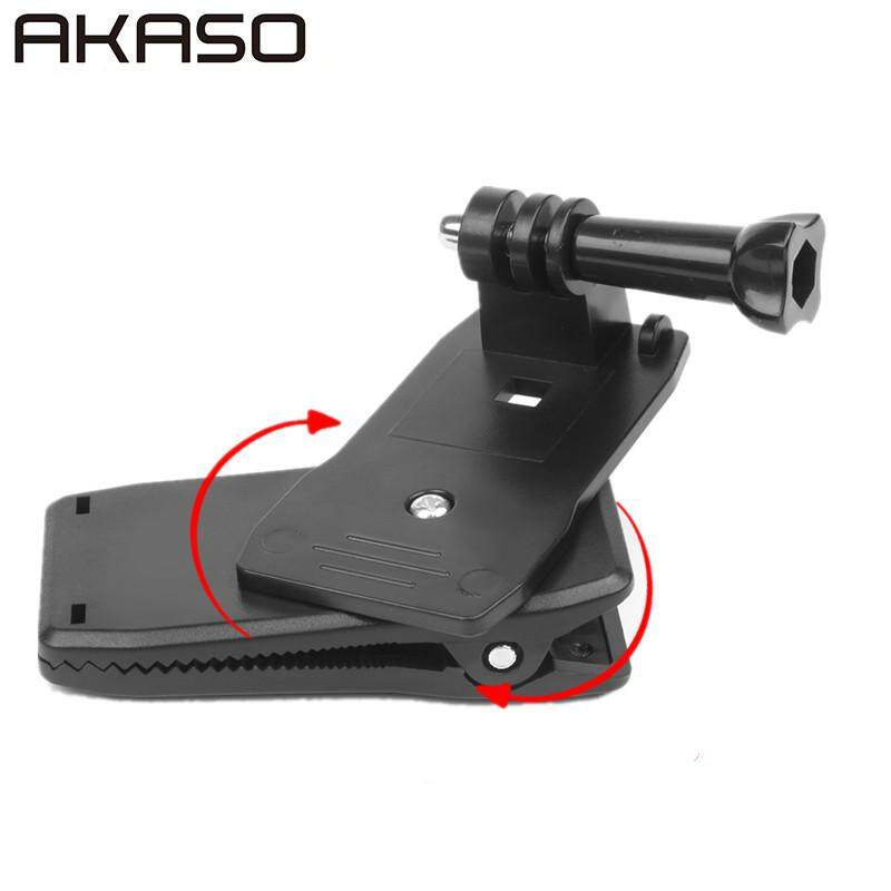 Akaso 360 Degree Rotation Backpack Hat Clip Mount Clamp For Gopro Hero 5 3 4 Sessions Sjcam Sj4000 Xiaomi Yi 4k Go Pro Accessory By Akaso Official Direct Store.