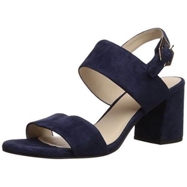 Cole Haan Womens Blakely Mid Heeled Sandal, Marine Blue Suede, 7.5 B US - intl