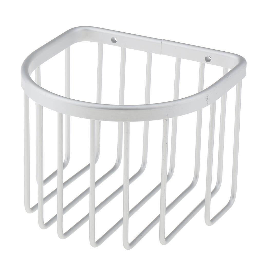 BolehDeals Aluminum Wall Mounted Toilet Roll Paper Basket Bath Shower Bathroom Tissue Storage Holder Organizer Shelf
