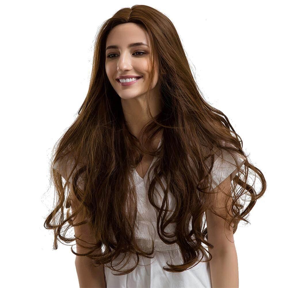 Phụ nữ Thời Trang tóc giả tổng hợp Tóc Xoăn Dài Bộ tóc giả đầy đủ...
