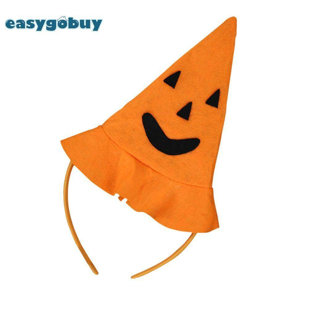 Hình ảnh Halloween Pumpkin Smile Hat Hairband Fancy Dress Decor Party Prop Accessory