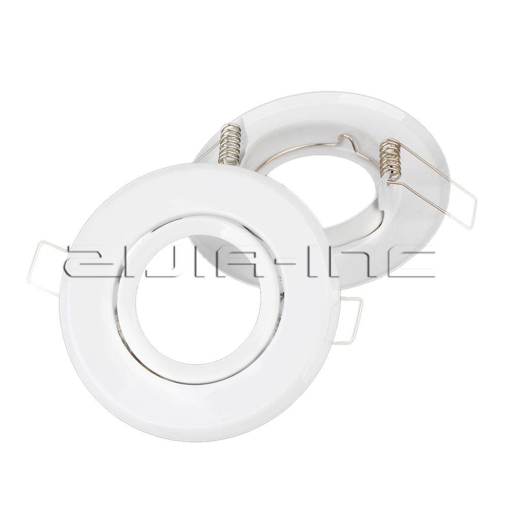 MR16 Polished Chrome Fitting Fixture Lamp Holders Ceiling Spot Downlights White Pack of 2
