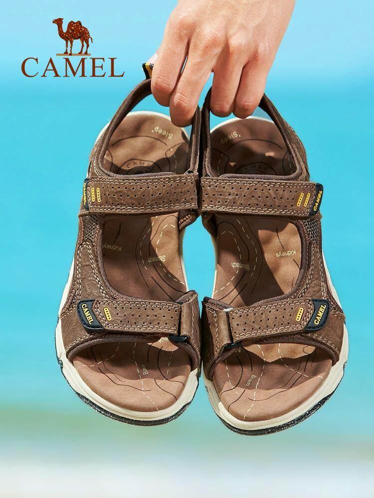 Camel Sandal Pria 2018 Musim Panas Baru Sandal Mode untuk Pria Kulit Sepatu  Pantai Kasual Olahraga 093a436264
