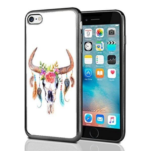 Smartphone Case S Tengkorak dengan Bulu untuk iPhone 7 (2016) & iPhone 8 (2017) case Cover Atom Pasar-Intl