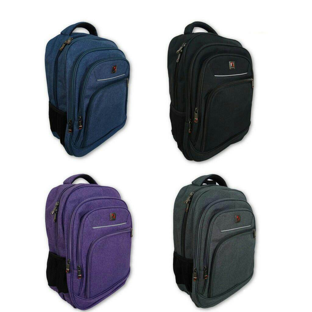 "(Fast Shipping - Purple)15"" Denim Premium Quality Rainproof Laptop Bag Backpack With Top Quality Zipper"