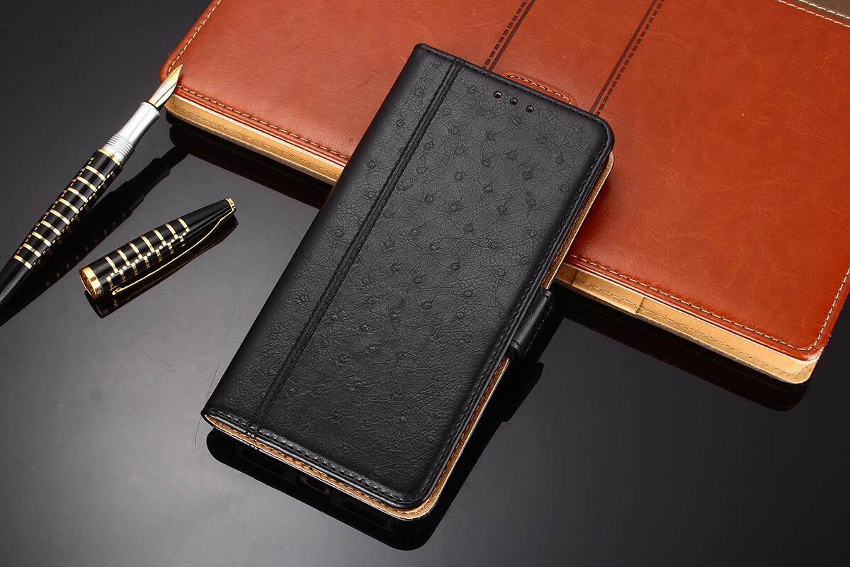 K'try Sarung Selular untuk Oppo A79 Mulia Burung Unta Pola Flip Telepon Seluler Kasus Kartu Penutup Paket 3 In 1 (TPU + PU + Kulit) case Kulit