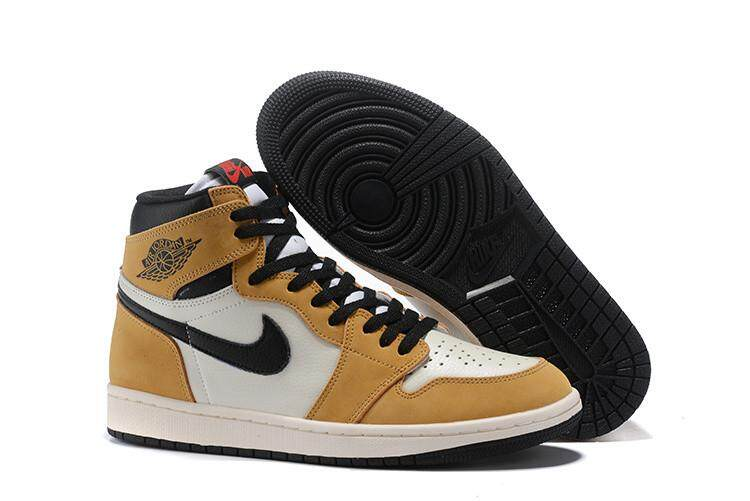 Nike Asli Stiker Michael Jordan 1 AIR JORDAN Pria Basketaball Sepatu AJ  Sneakers MJ Biru Hitam 499b310c1b