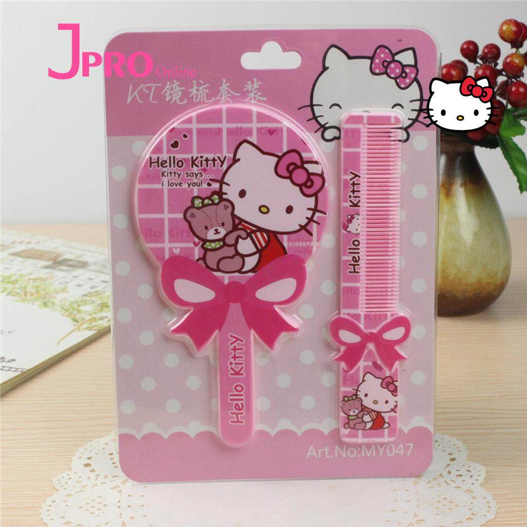 Hello Kitty Buy At Best Price In Malaysia Lazada Healty Paper Wallet Dompet Kertas Mirror Comb Kit Mini Portable Handle