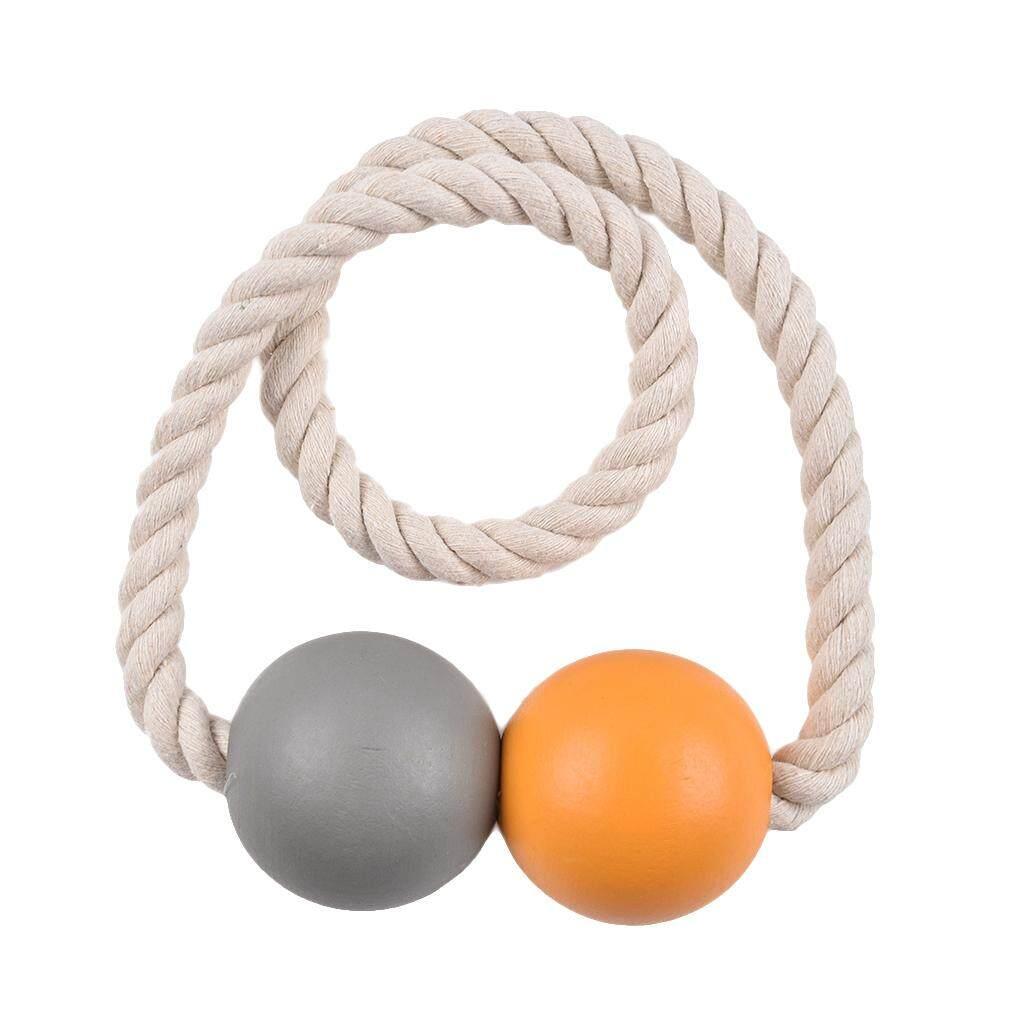 BolehDeals 1 Pair Magnetic Wooden Beads Window Curtains Tie Back Curtain Holder Holdback
