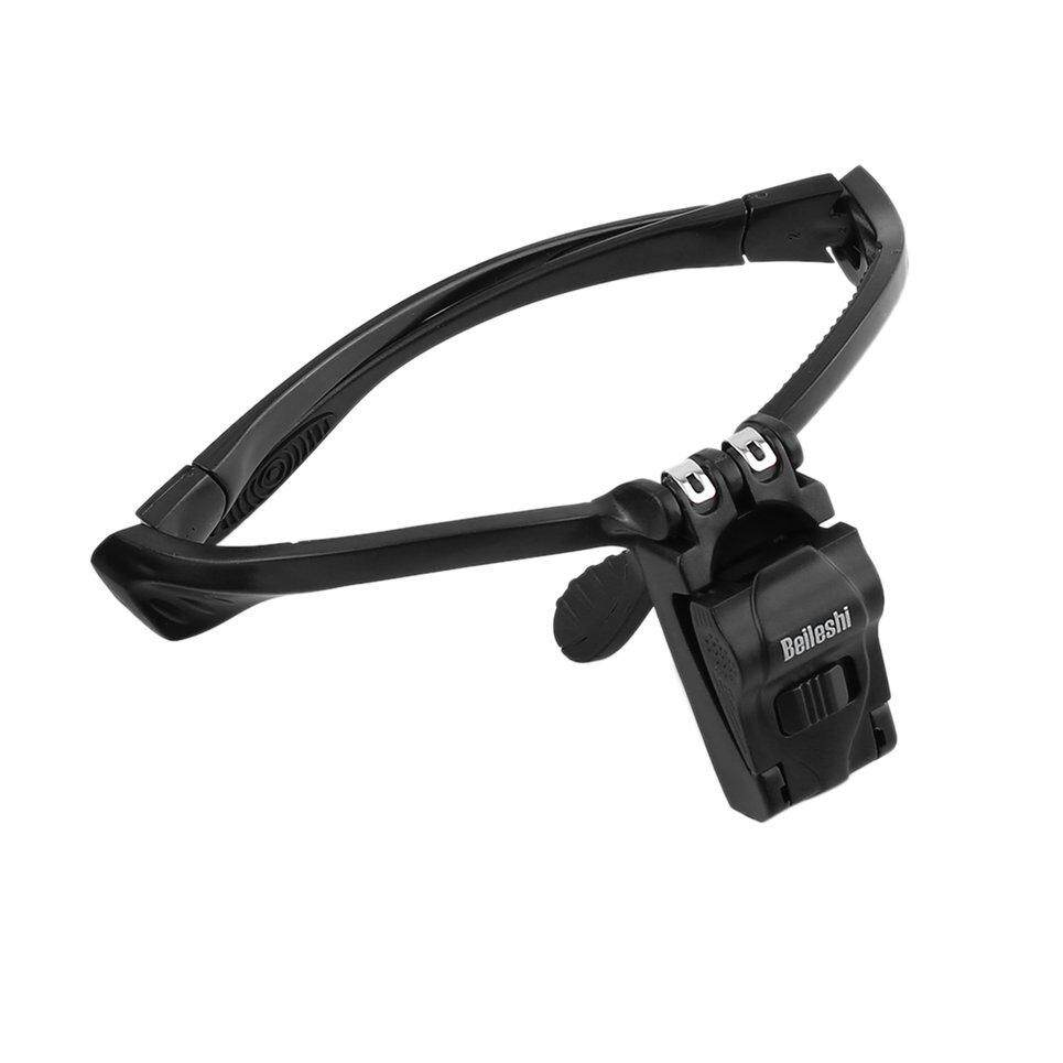 Beau Headband Magnifier LED Magnifying Glass with 5 Lens for Repairing Reading - intl