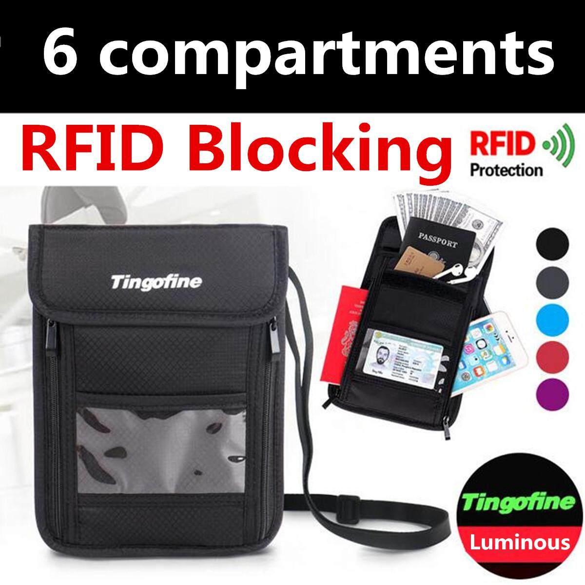 cc954a8c463 Rfid Blocking Passport Card Holder Neck Stash Pouch Security Travel Wallet  Bag Grey By Moonbeam.