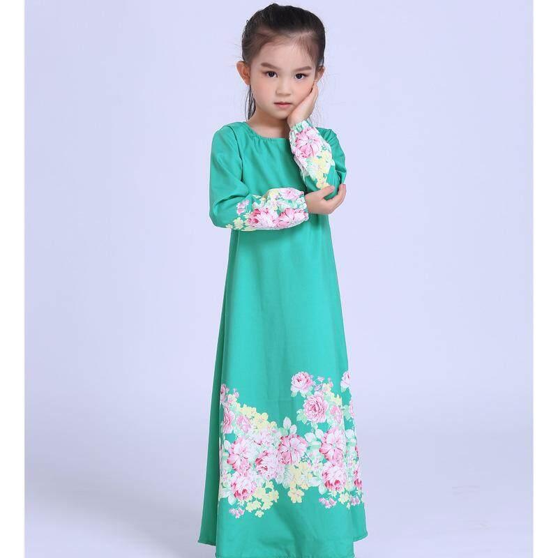 Betrare Long Dress For S Slim Kids Jubah Sleeve Princess Elegant Flower